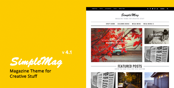 SimpleMag – Magazine theme for creative stuff – WordPress