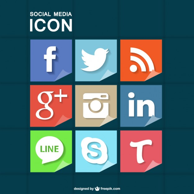 Social media icons set free for download  Vector | Free Download