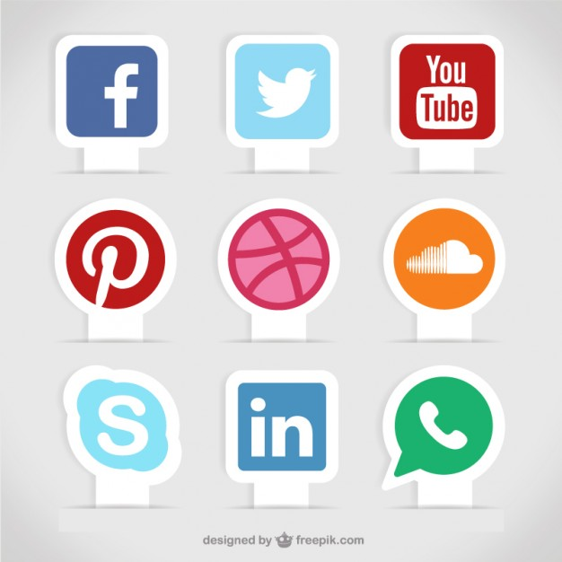 Social media labels  Vector | Free Download
