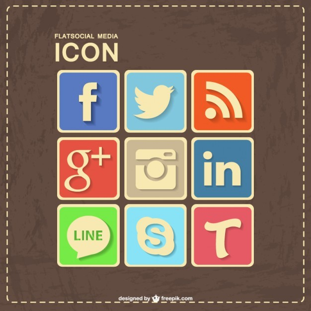 Social media retro leather design  Vector | Free Download