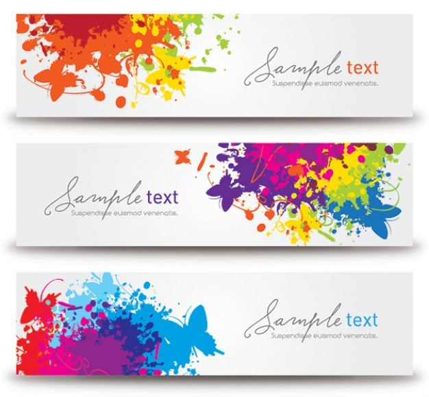 splashed banners  Vector   Free Download