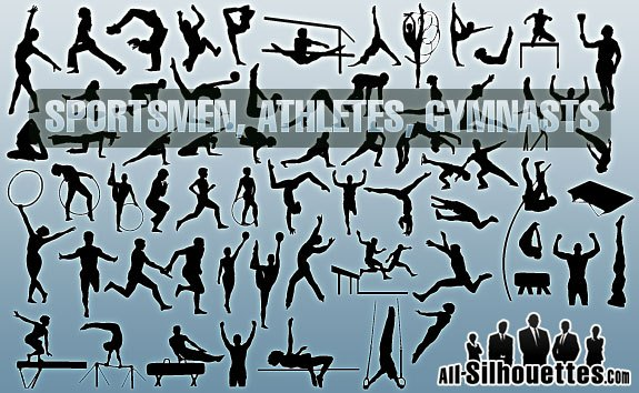 Sportsmen, Athletes, Gymnasts – All-Silhouettes