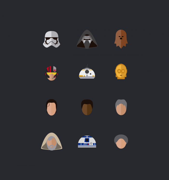 Star Wars, The force awakens – Icons | IconStore