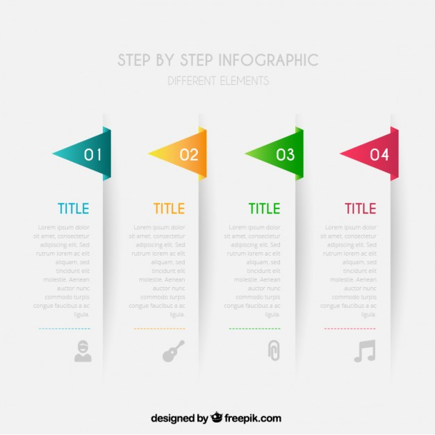Step by step infographic  Vector | Free Download
