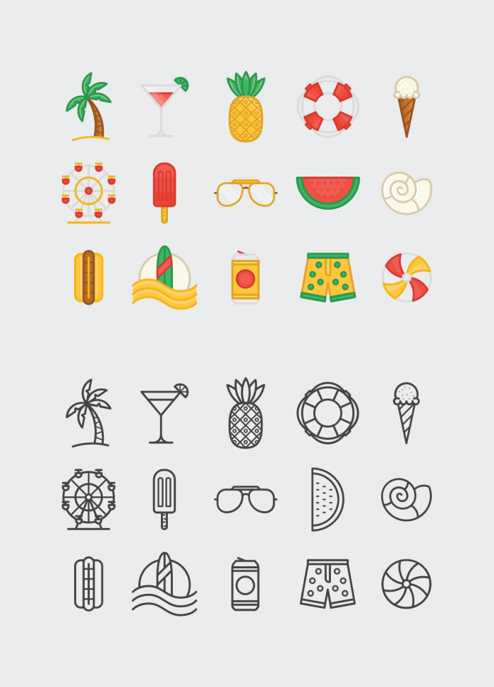 Summer Icons | IconStore