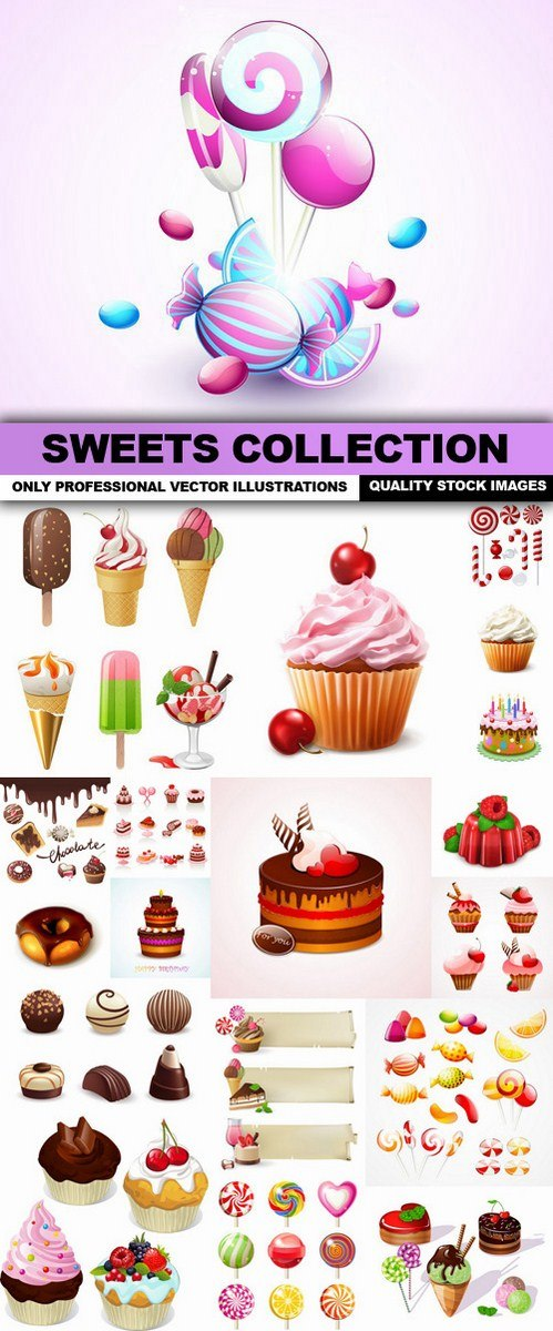 Sweets Collection – 24 Vector