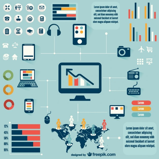 Technology free infographic   Vector | Free Download