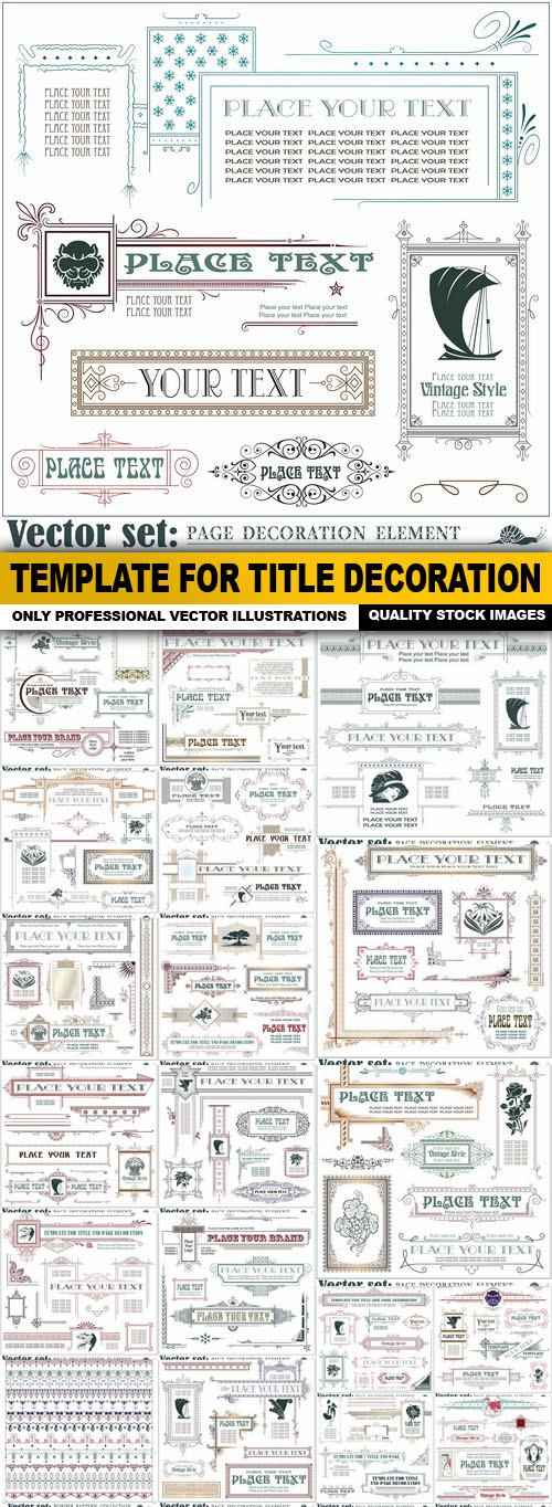 Template For Title Decoration – 25 Vector