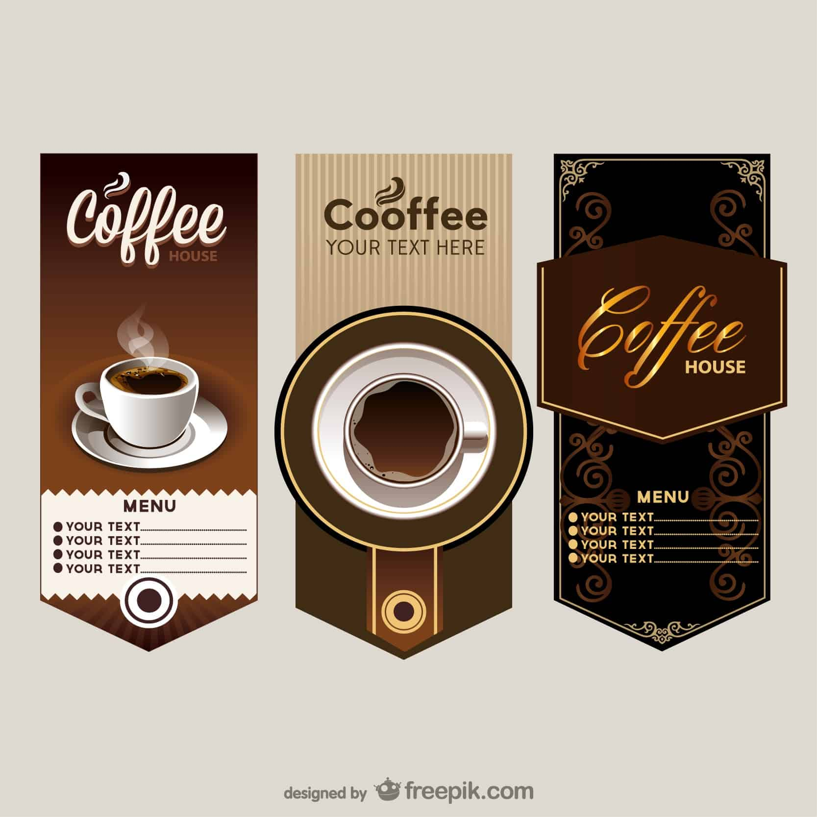 the elegant cafe menu price table vector  Vector | Free Download