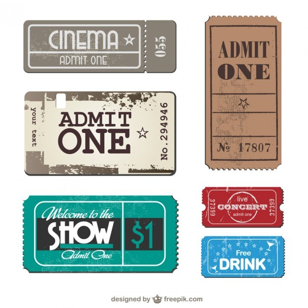 Tickets collection vector set  Vector | Free Download