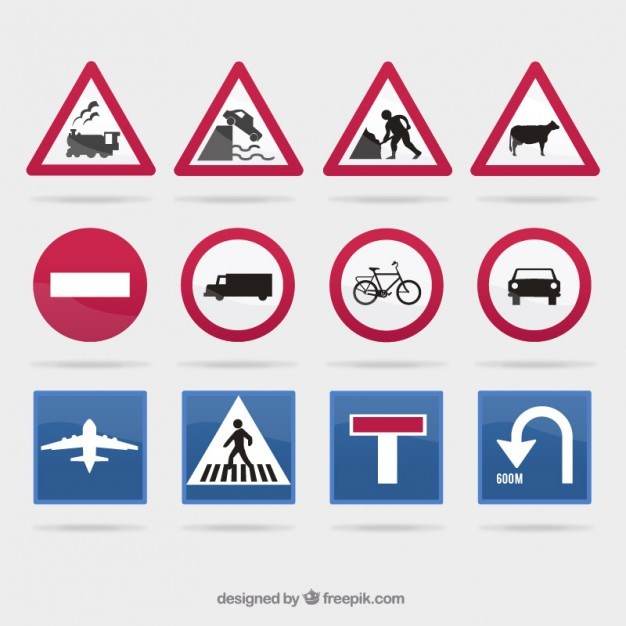 Traffic sign collection  Vector | Free Download