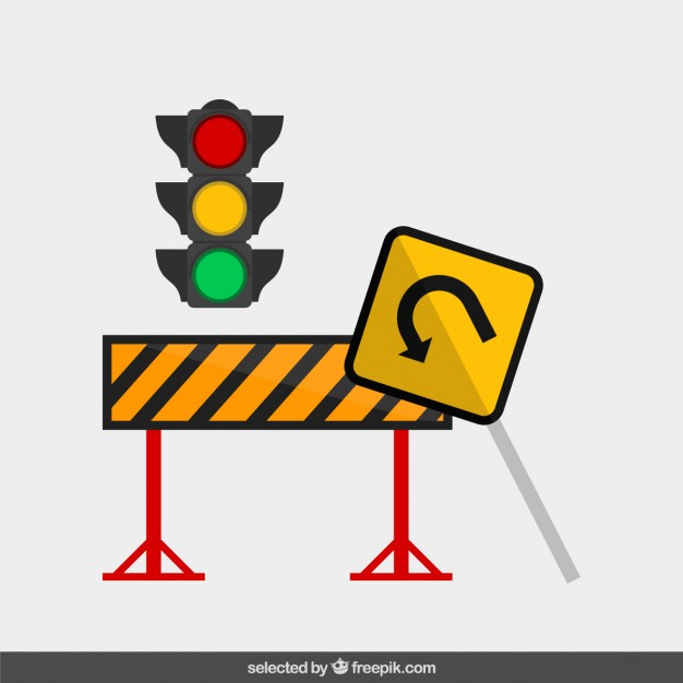 Traffic sign in flat design  Vector | Free Download