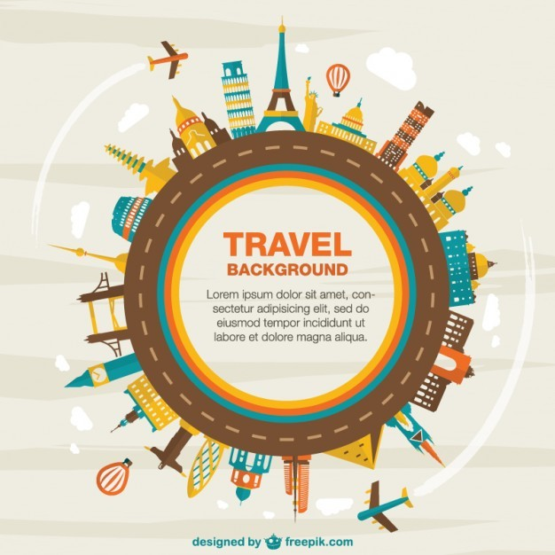 Travel vector background Vector | Free Download