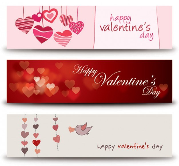 Valentines Banners Vector   Free Download