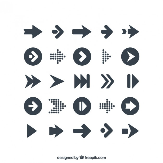 Variety of arrows icons  Vector | Free Download