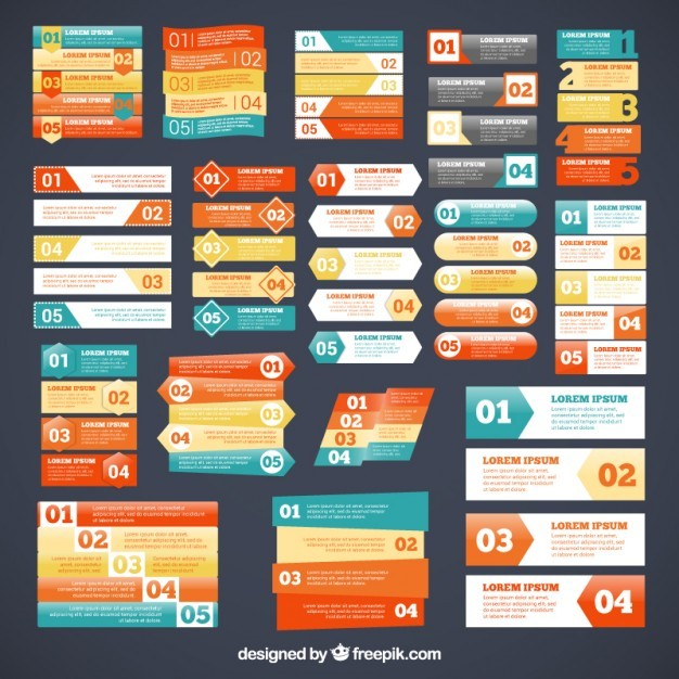 Variety of infographic banners  Vector | Free Download