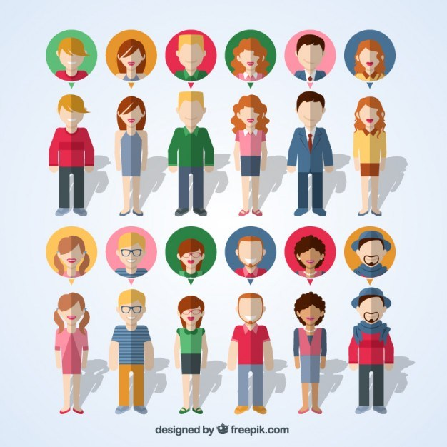 Variety of people icons  Vector | Free Download