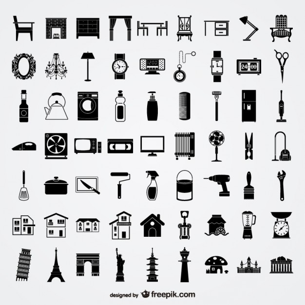 various sketch elements of vector material   lifestyle   elements  Vector | Free Download