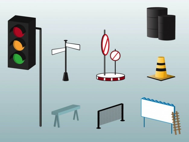 Various street objects  Vector | Free Download