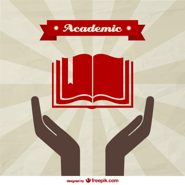 Vector academic background template