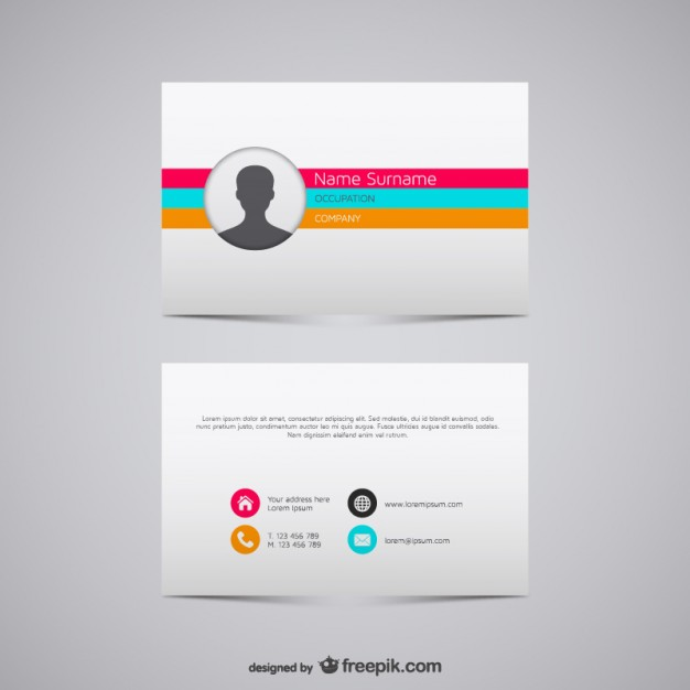 Vector business card illustration  Vector | Free Download