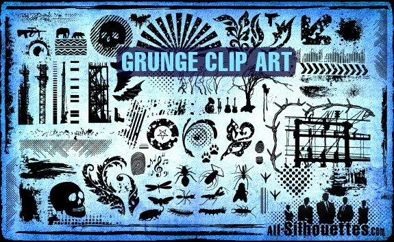 Vector Grunge Clipart – All-Silhouettes
