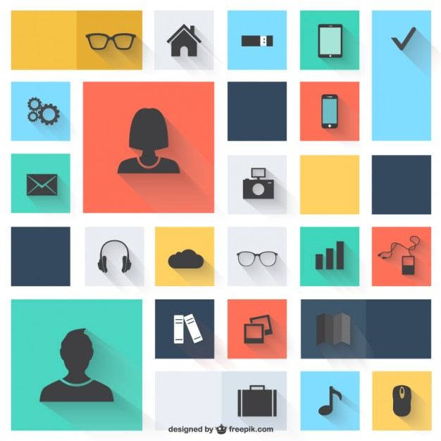 Vector icons flat design   Vector | Free Download