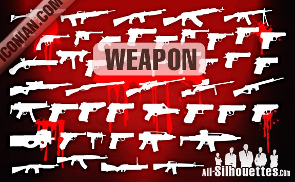 Vector Military Weapon – All-Silhouettes