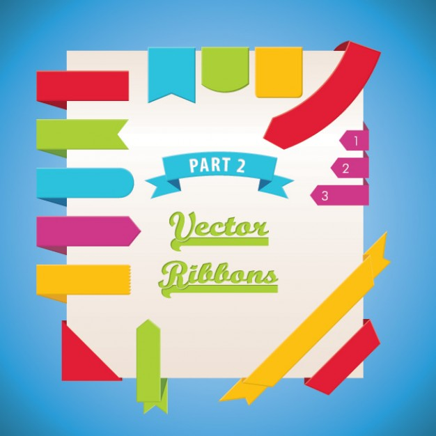 vector ribbons part  Vector | Free Download