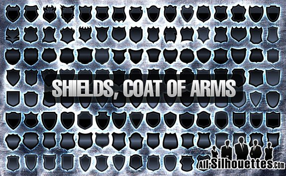 120+ Vector Shields, Coat of Arm – All-Silhouettes