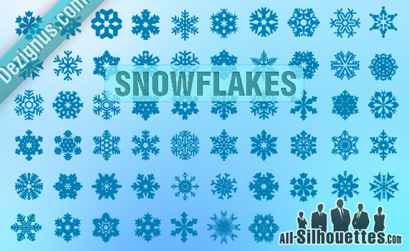 Vector Snowflakes – All-Silhouettes