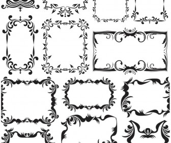 Vintage decorative frames vector free