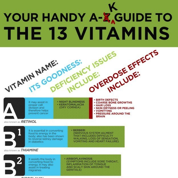 The Guide to Vitamins [Infographic]