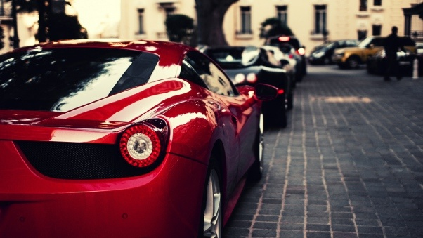 Wallpaper Ferrari, Veyron, Bugatti, Black, Italy, Red HD