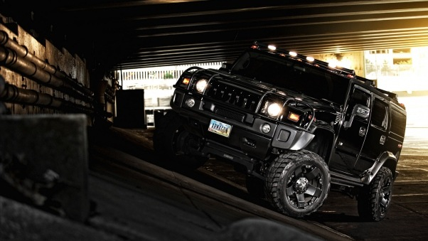 Wallpaper Hummer, H2, Black, Off road, Black, Suv HD