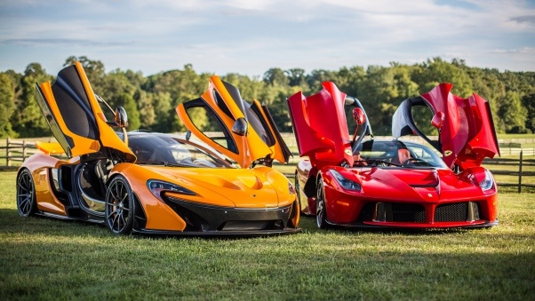 Wallpaper Mclaren, P1, Ferrari, Laferrari HD