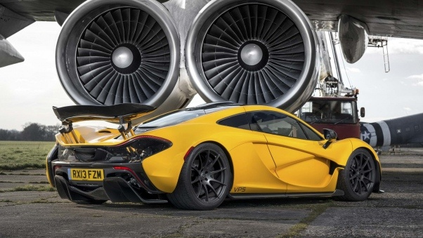 Wallpaper Mclaren, P1, Turbines, Yellow, Supercar HD