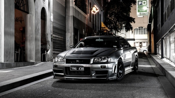 Wallpaper Nissan, Auto, Black, Street HD