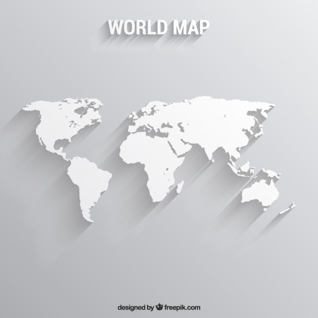 White world map  Vector | Free Download