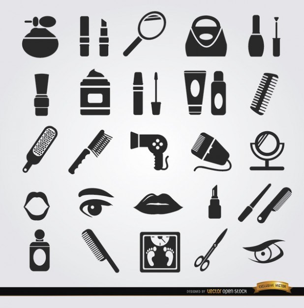 Woman Beauty icons  Vector | Free Download