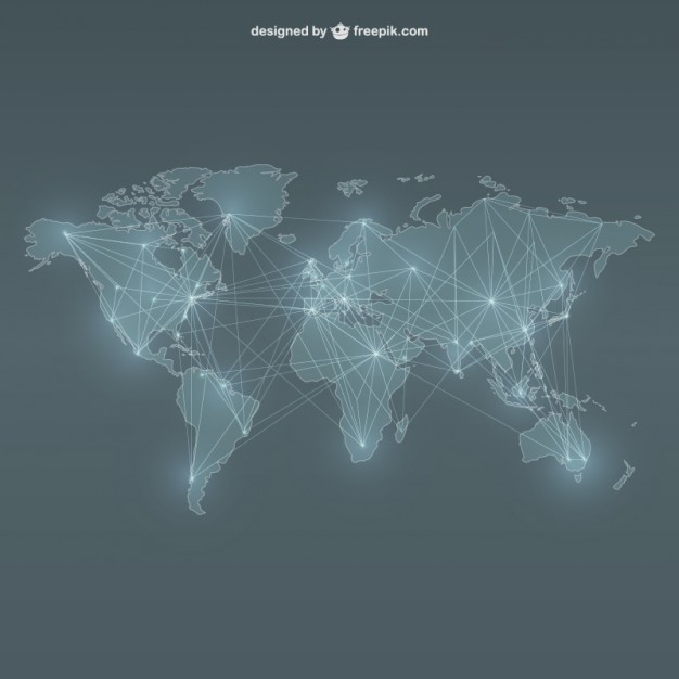 World map networking  Vector | Free Download