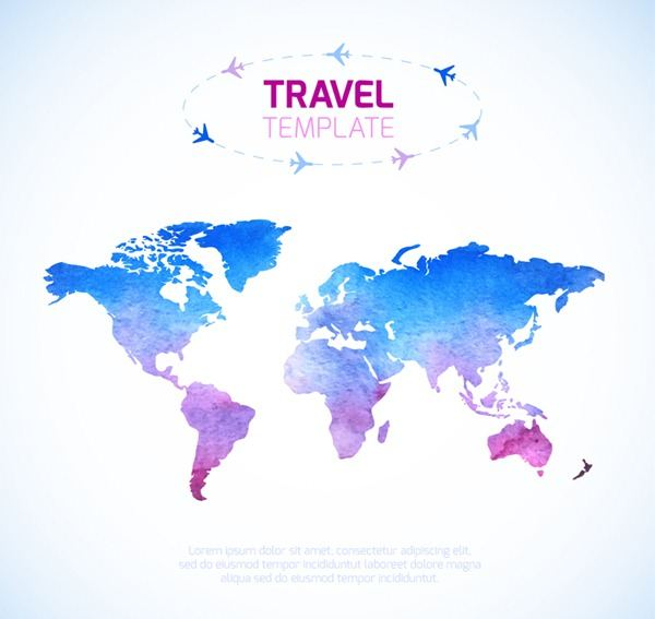 Color universal travel world map vector graphics epin free color universal travel world map vector graphics gumiabroncs Image collections