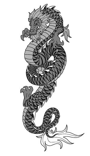 Cool Chinese dragon vector material -2