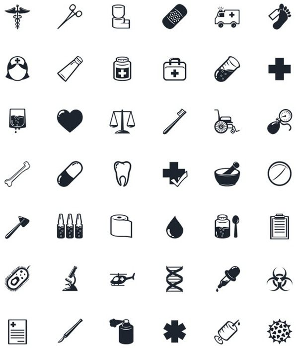 50 hospitals topic – PNG Icons