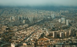 Aerial view of the beautiful city landscape picture material