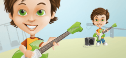 Boy with a Guitar Character Design