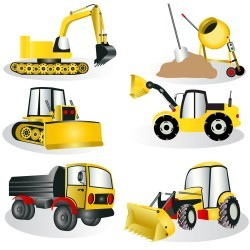 Construction machine design creative vector