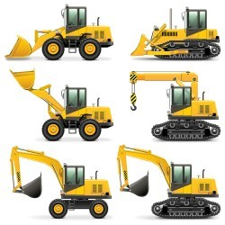 Engineering machinery and equipment vector