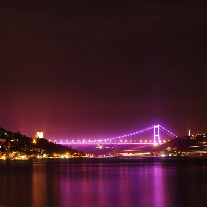 Eurasian Bridge Night picture material