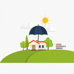 Home insurance services background Vector   Free Download